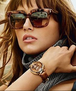 Model wearing Michael Kors sunglasses
