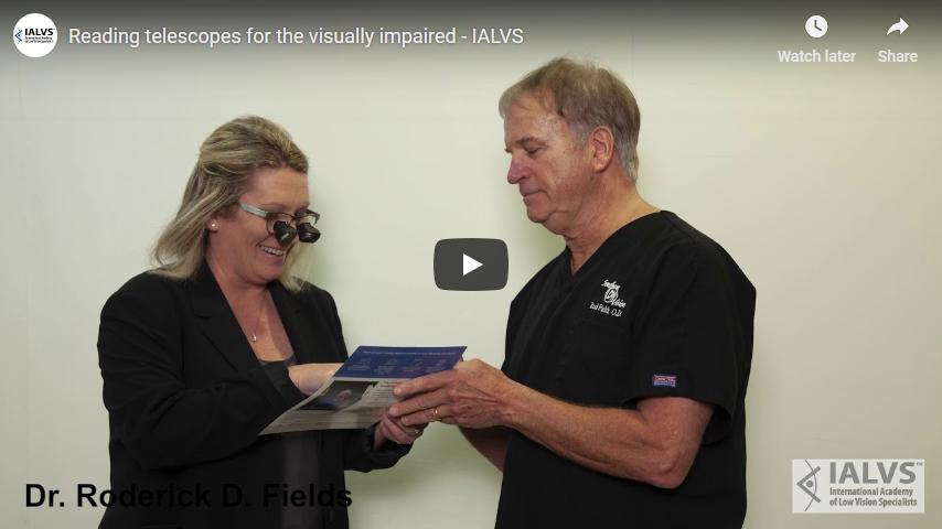 Screenshot 2019 03 08 Reading telescopes for the visually impaired   IALVS   YouTube
