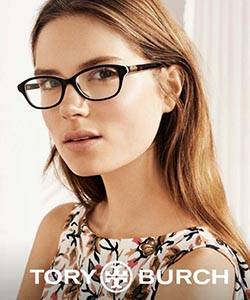 Model wearing TORY BURCH sunglasses