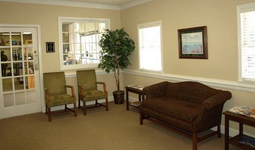 Professional Optometry waiting room in Fayetteville