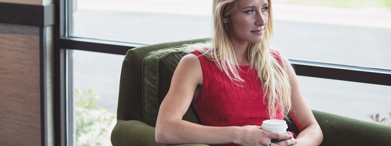 Woman Window Coffee Sad 1280x480