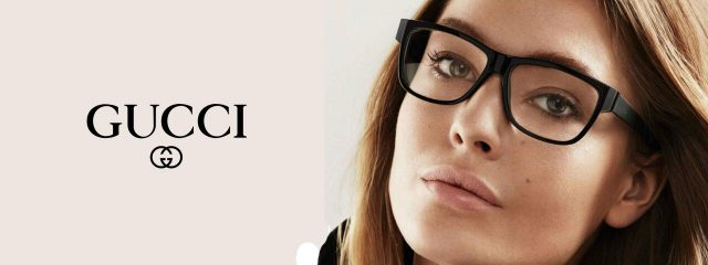 Optometrist, woman wearing Gucci eyeglasses in St. Pauls and Fayetteville, NC