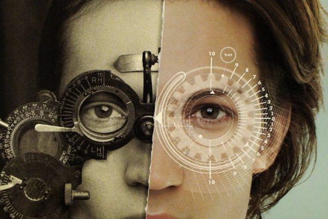 Eye doctor, woman at an eye exam in Ridgewood, NJ
