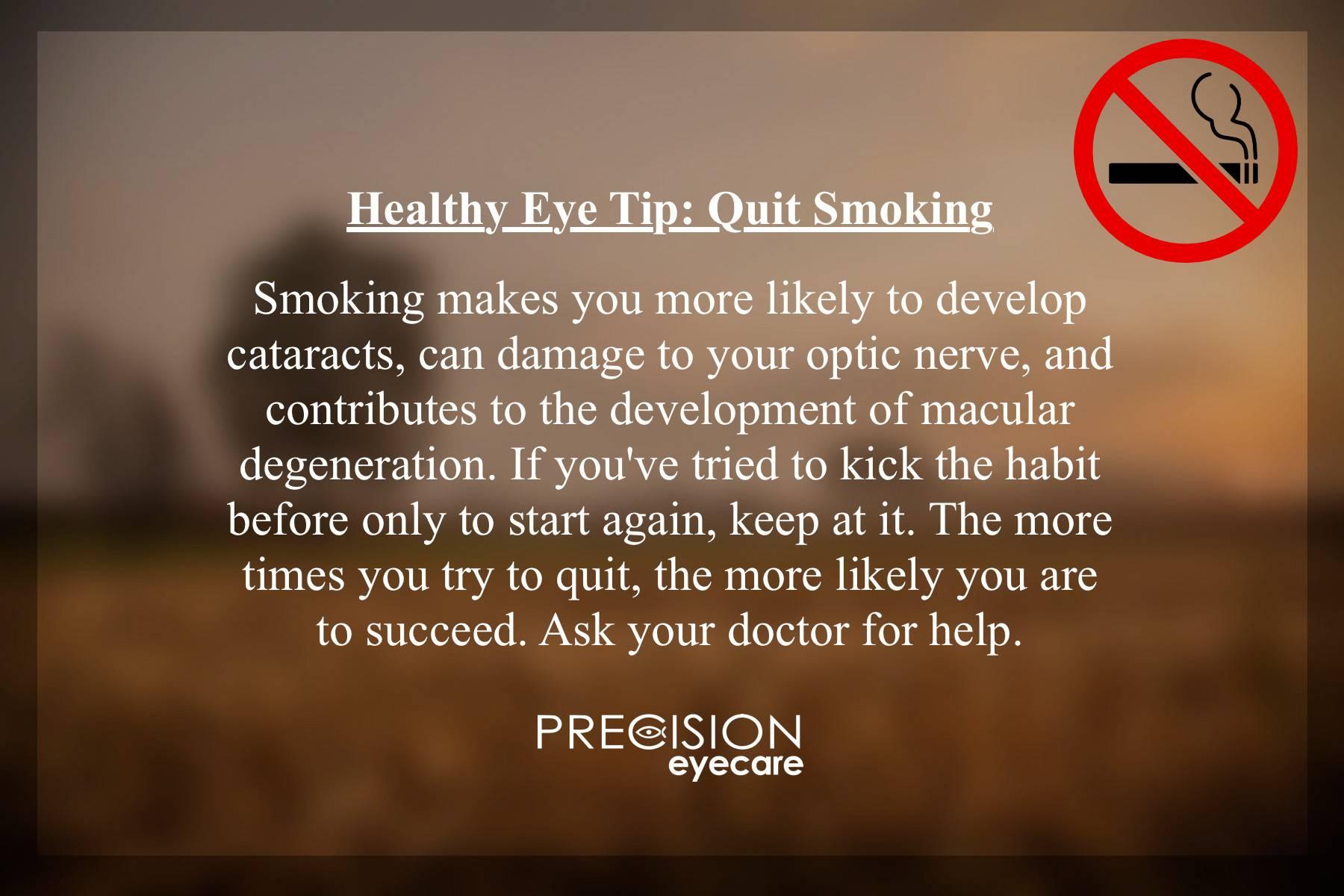 Healthy Eye Tip Quit Smoking 1