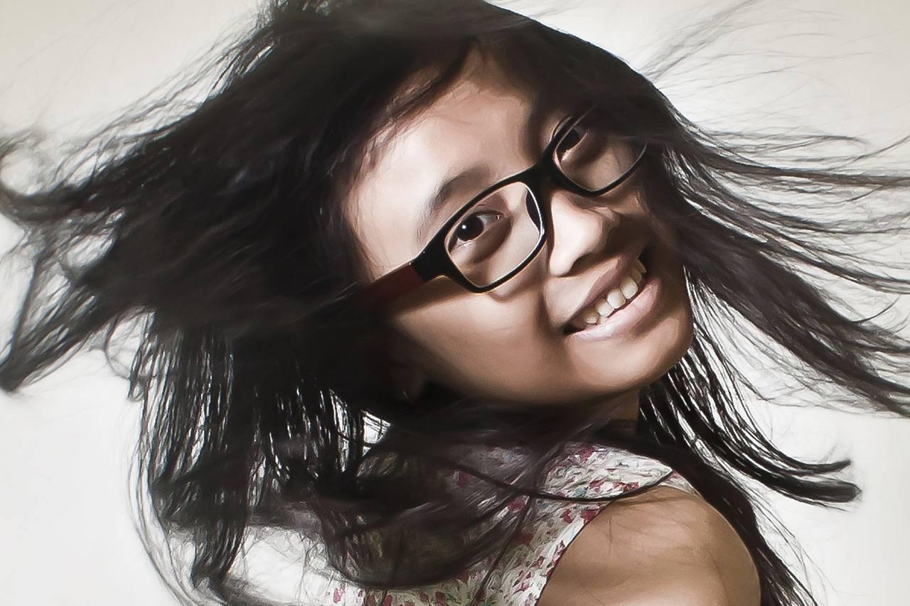 Teen Girl Smiling Window