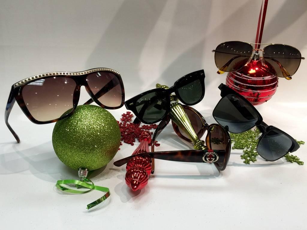 family wearing sunglasses