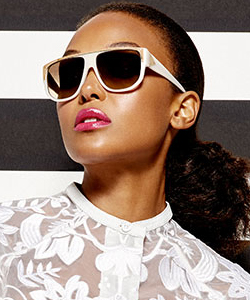 Model wearing Dita sunglasses