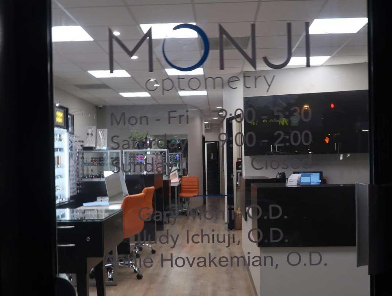 monji optometry door