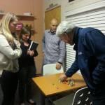Dr. Hilliar training us on Color Stix at his practice.