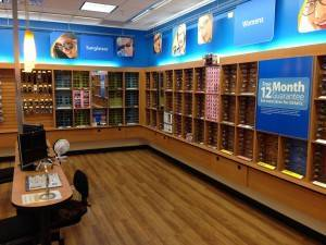 Becken Vision Center interior in Walmart Vision Center