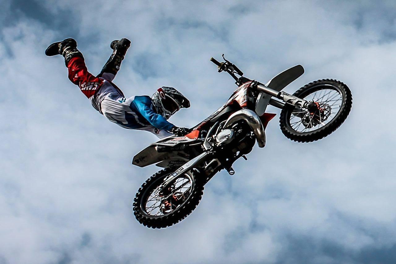 sport biker stunt