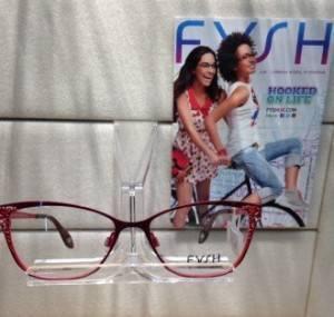 Photo of burgundy-coloured Fysh glasses frame