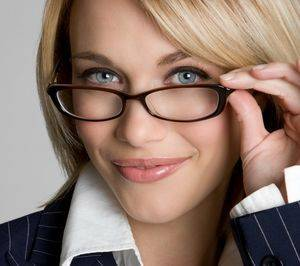 blond wearing glassesnew