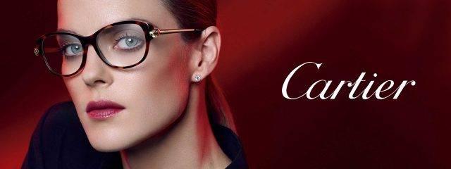 Eye doctor, woman wearing Cartier eyeglasses in Costa Mesa, CA