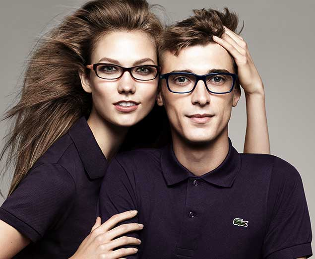 Eye exam, couple with Lacoste designer frame in San Jose, CA