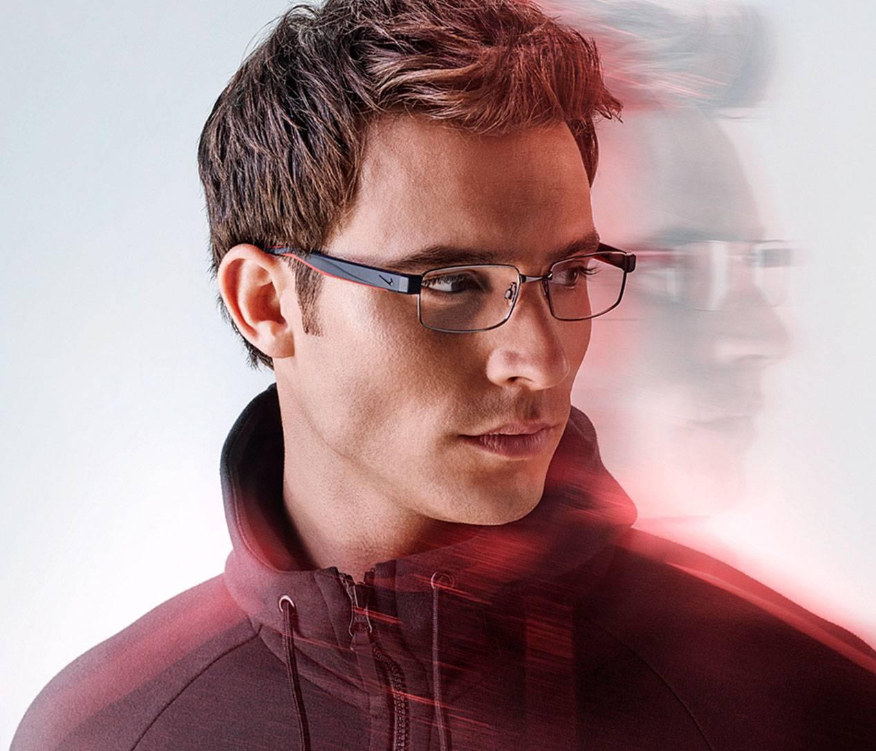 Eye care, man with Nike designer frame in San Jose, CA