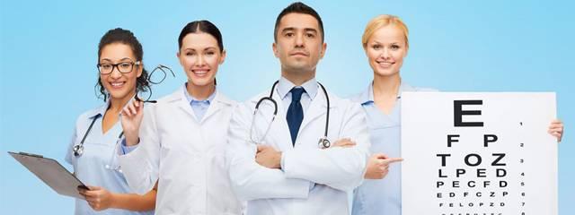 Eye exam, doctors team in San Jose, CA