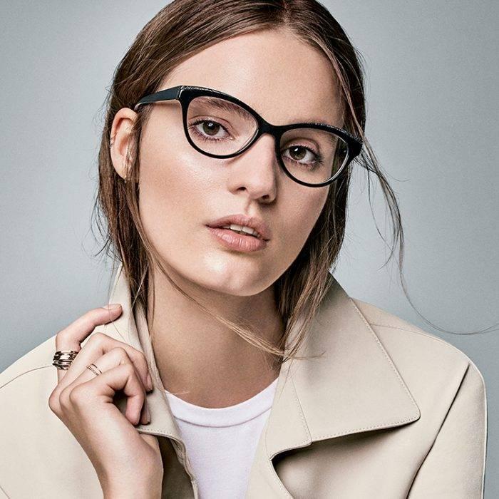 Eye doctor, woman with Nine west designer frame in San Jose, CA