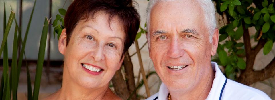 Eye doctor,Senior couple with contact lens in San Jose, CA