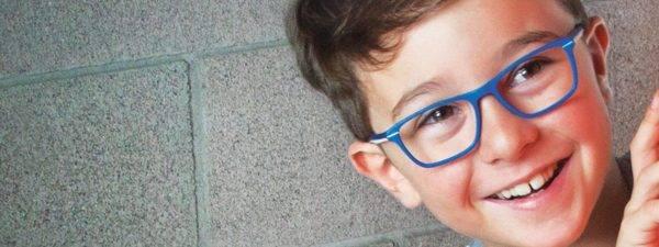 Eye doctor, boy wearing Db4k eyeglasses in Oak Brook, IL