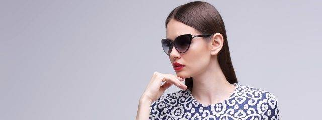 Eye care, woman wearing designer sunglasses in Plano, TX
