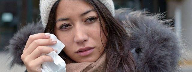 Eye care, woman having eye allergies in Plano, TX