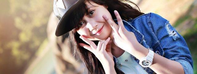 Eye care, teenage asian girl wearing a hat in Plano, TX