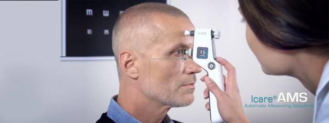 Eye doctor, little boy at an eye exam in Jackson, TN