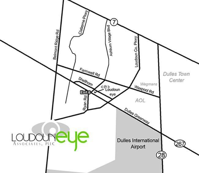 Ashburn VA map with directions to Loudoun Eye Associates