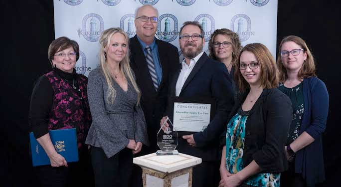 Kincardine Family Eye Care staff at the BDO Awards
