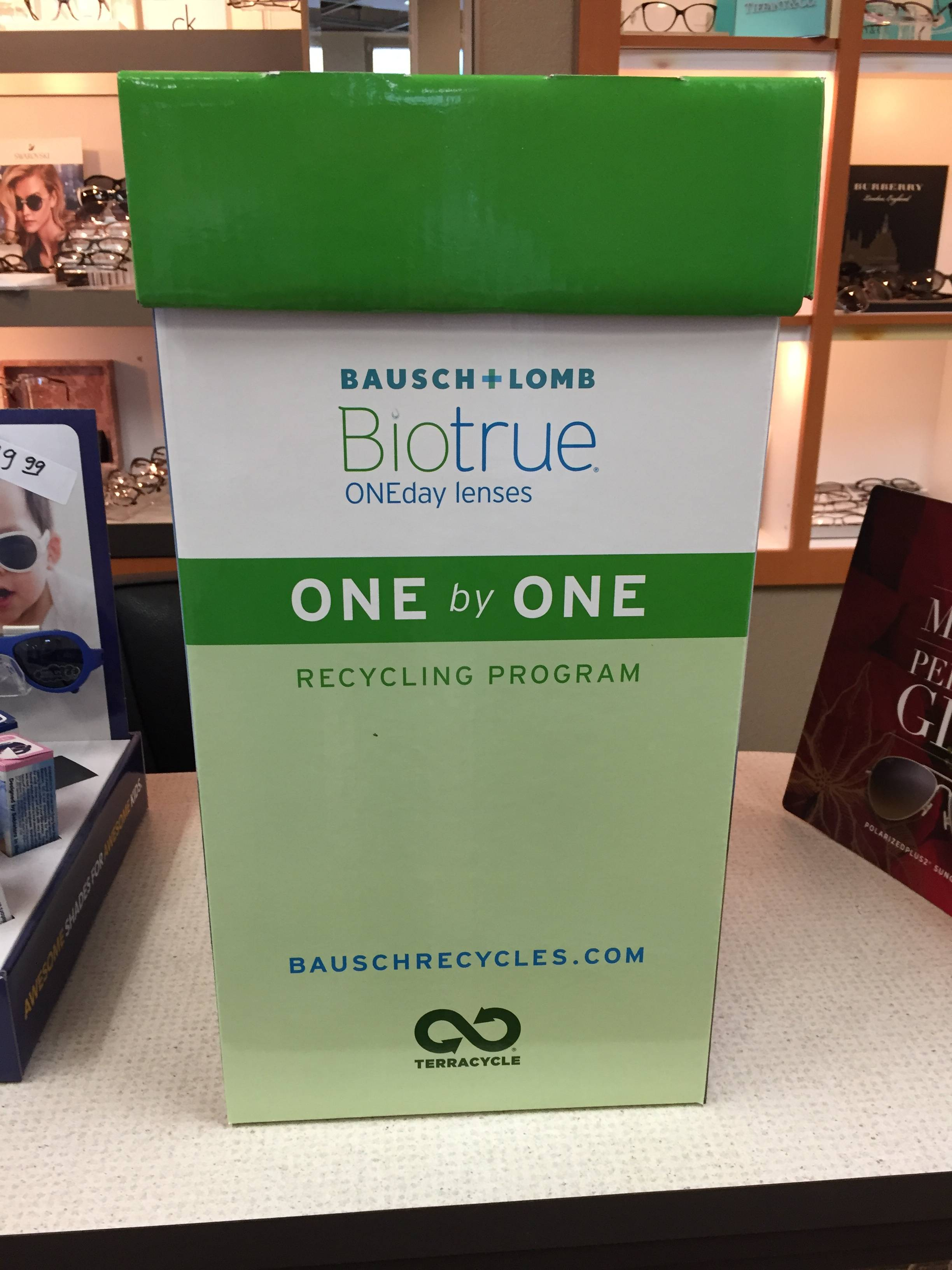 Contact Lens Recycling box at Mill Creek Vision