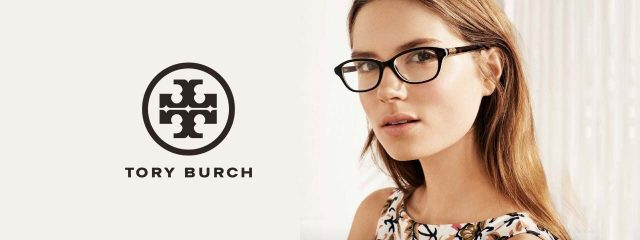 Woman wearing Tory Burch eyeglasses in Llano & Fredericksburg, TX