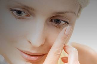 Woman Contact Lens