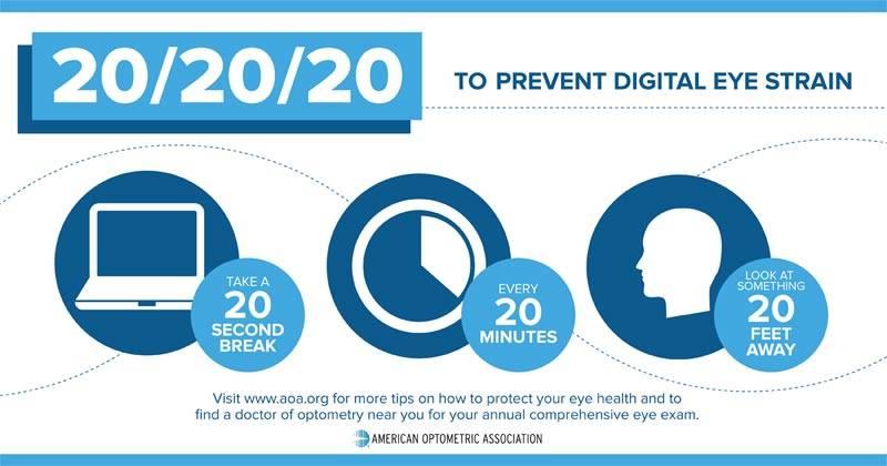 20 20 20 to prevent digital eye strain