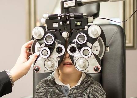 Little Boy Getting an Eye Exam