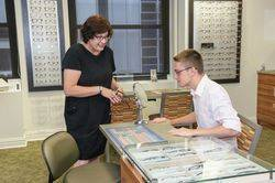 Our Optician Helps You Choose Eyewear