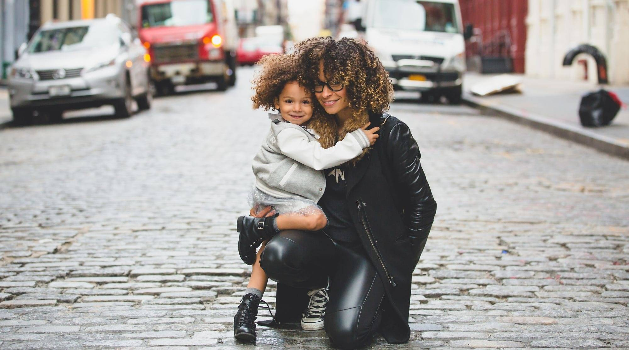mother and child in NYC