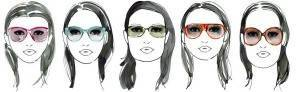 Designer eyewear on models