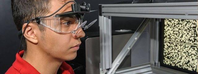 Eye doctor, teenager at a visual field testing in Danbury & Stamford, CT