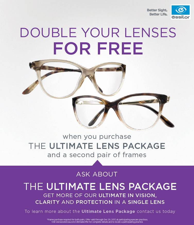 Essilor Ultimate Lens Package at Optometry at Redwood Shores in Redwood City, California