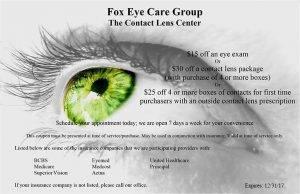 Fox Eye Care Group Coupon
