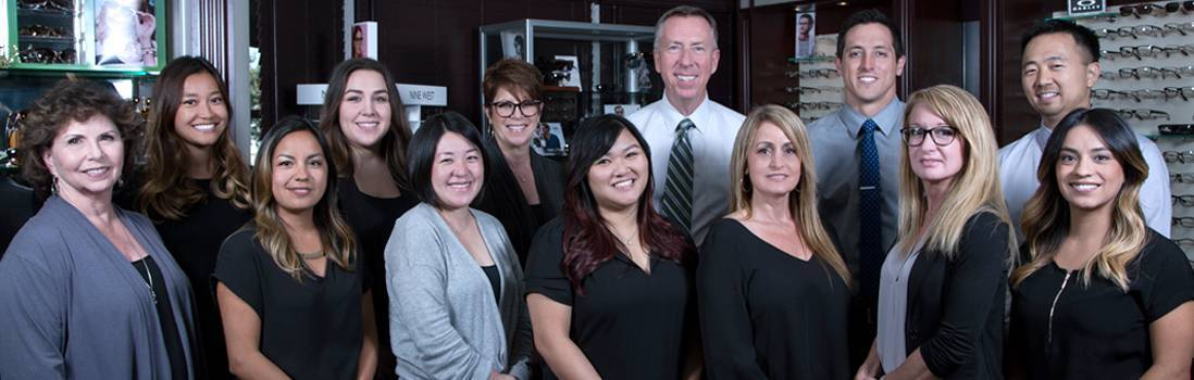 Staff at Pacific eyecare in Huntington Beach. CA