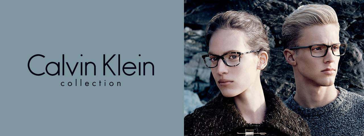 Optometrist, man & woman wearing Calvin Klein eyeglasses in Tupelo, MS