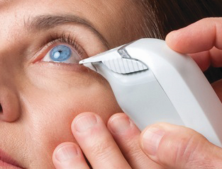 Easy painless TearLab Dry Eye test performed in our Greensburg office