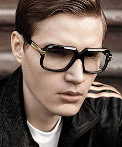 Model wearing Calvin Klein sunglasses
