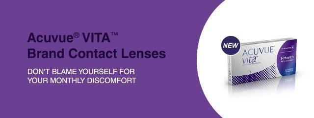 Optometrist, box of acuvue vita contact lenses in Philadelphia & North Wales, PA