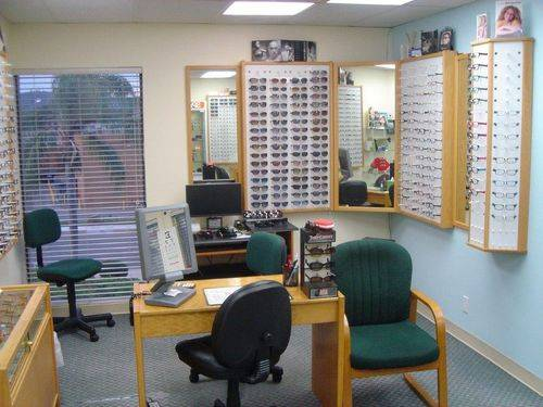 another wall of eyeglasses