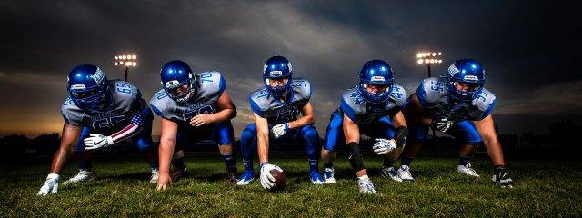 eye wear, football athletes playing without glasses or contacts, after using Ortho-K in Fair Lawn, NJ