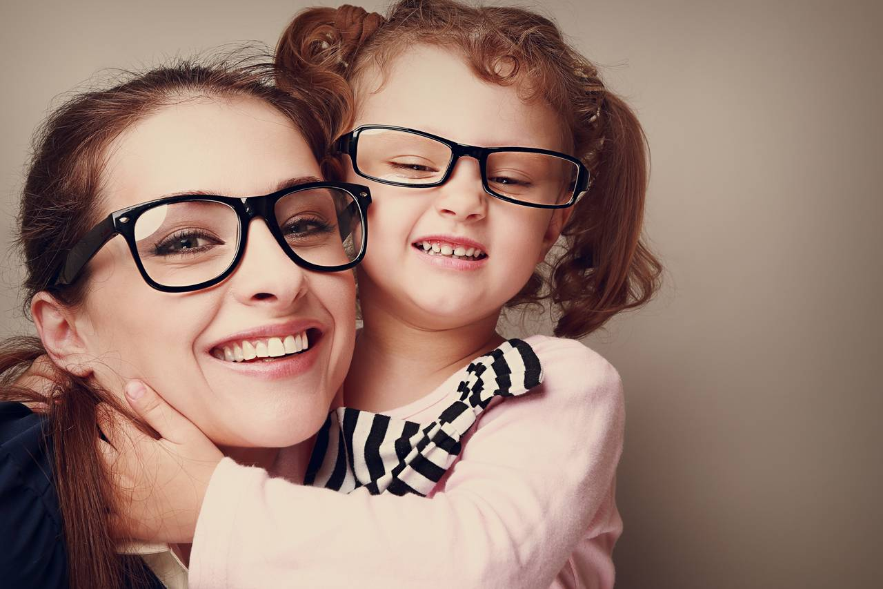 Eye exam, Mother and daughter with eyeglasses in Coldwater, St Marys, Greenville, OH