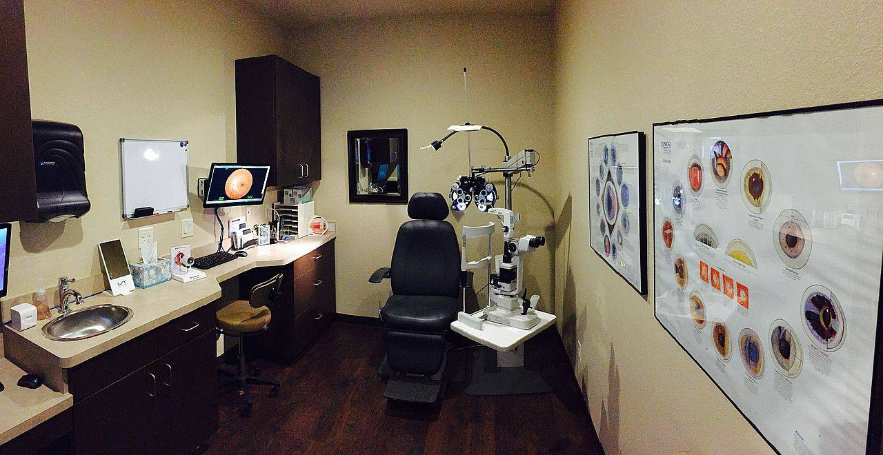 Picture of eye exam room